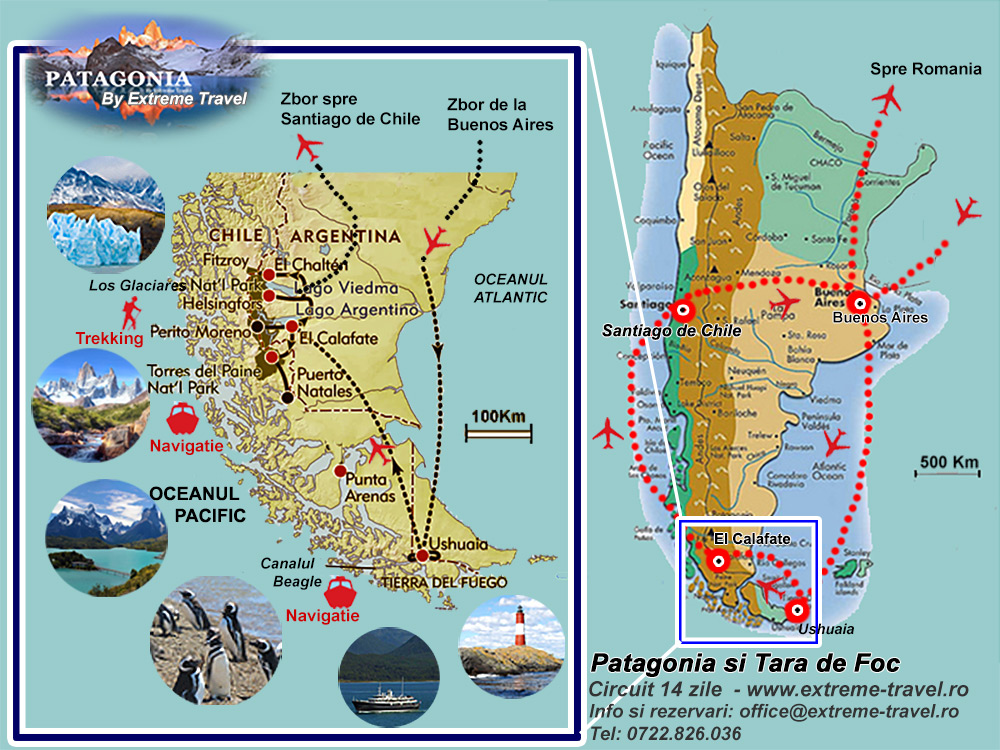 Patagonia Extreme Travel Harta Map